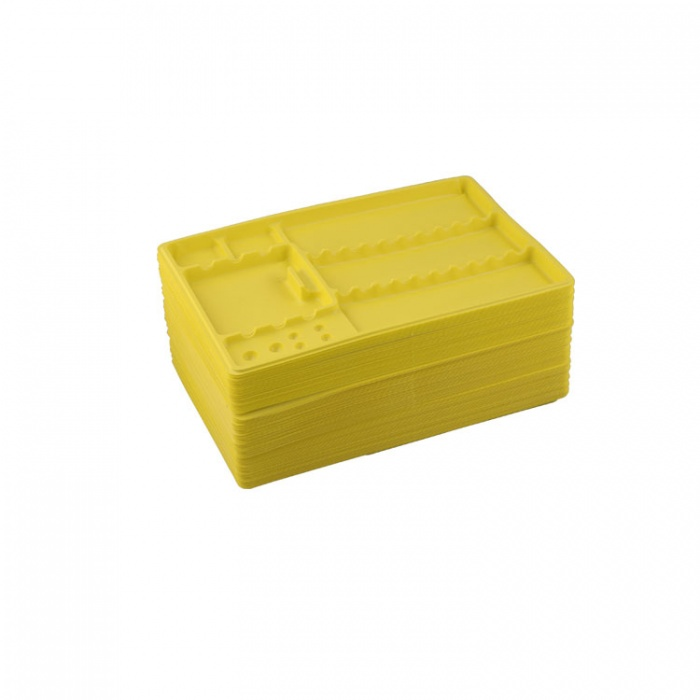 Dentaline Disposable Instrument Trays Maxi, Yellow 280X183X17mm (Pack Of 100 Pieces)