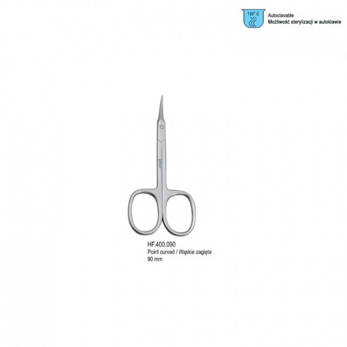 Scissors Cuticle Arrow Point Curved 110mm