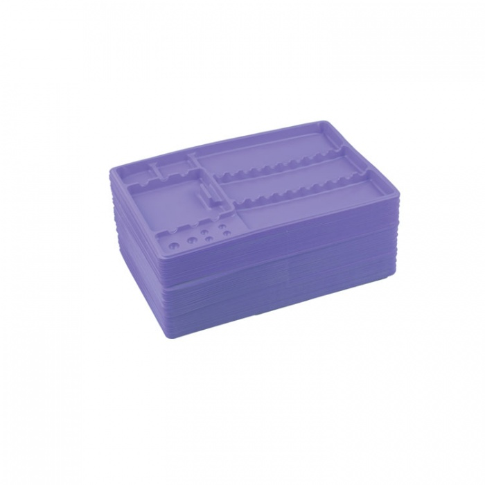 Dentaline Disposable Instrument Trays Maxi, Violet 280X183X17mm (Pack Of 100 Pieces)