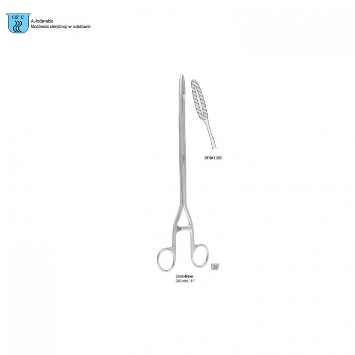 Forceps Dressing Sims-Maier Curved 280mm