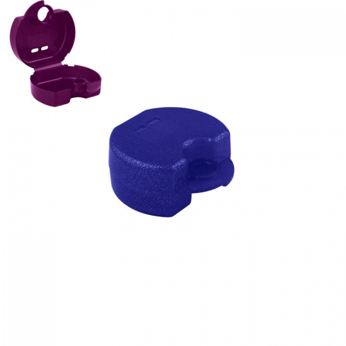 Retainer Cases Euro Maxi Sparkle Blue, 38 X 76 X 64mm (Pack Of 10 Pieces)
