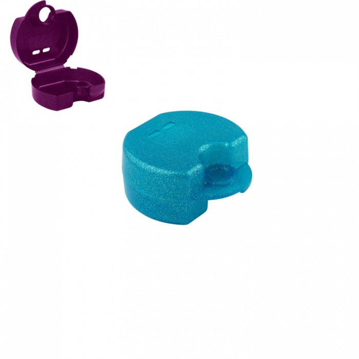 Retainer Cases Euro Maxi Sparkle Cool Mint, 38 X 76 X 64mm (Pack Of 10 Pieces)