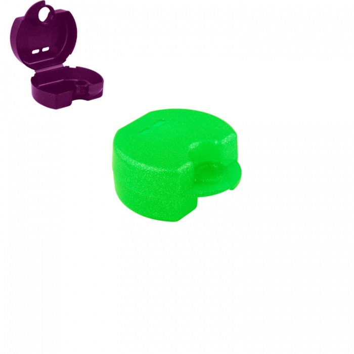 Retainer Cases Euro Maxi Tropical Green, 38 X 76 X 64mm (Pack Of 10 Pieces)