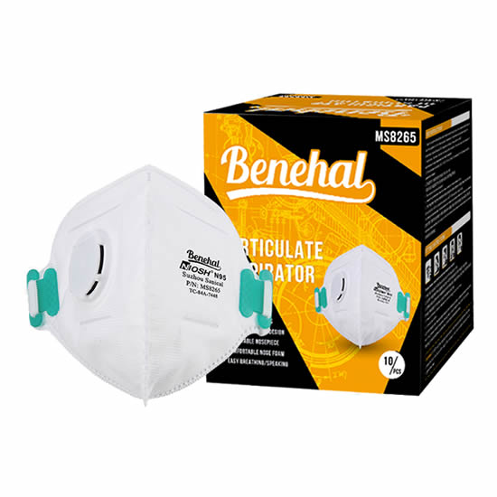 Disposable N95 (valved) Respirators: NIOSH approved [Product Code: 239-143]
