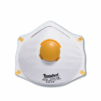 Disposable FFP1 (valved) Respirators: EN 149 Certified [Product Code: 254-153]
