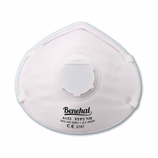 Disposable FFP2 (valved) Respirators: EN 149 Certified [Product Code: 260-157]