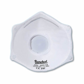 Disposable FFP2 (valved) Respirators: EN 149 Certified [Product Code: 266-161]