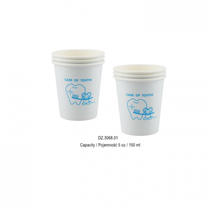 Paper Cups Healthy Teeth (Pack Of 100 Pieces)