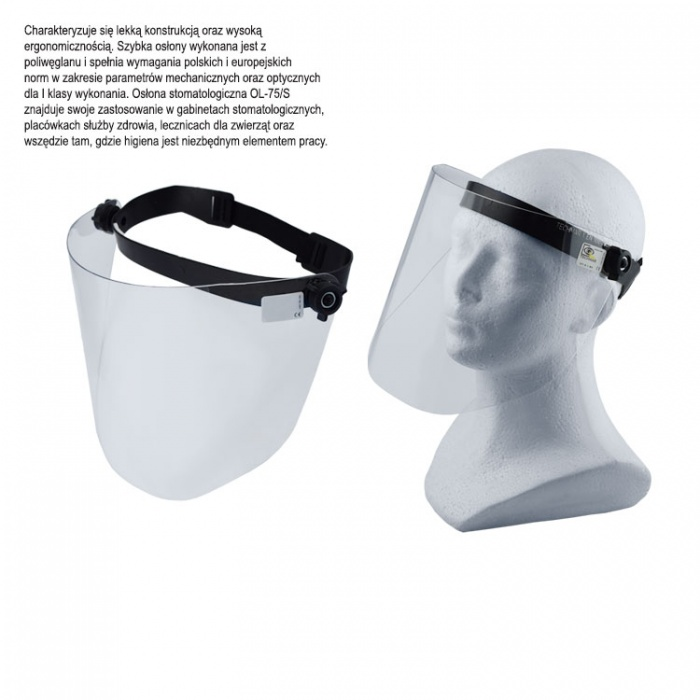 Protective Face Shield Ot-S, 190mm X 345mm
