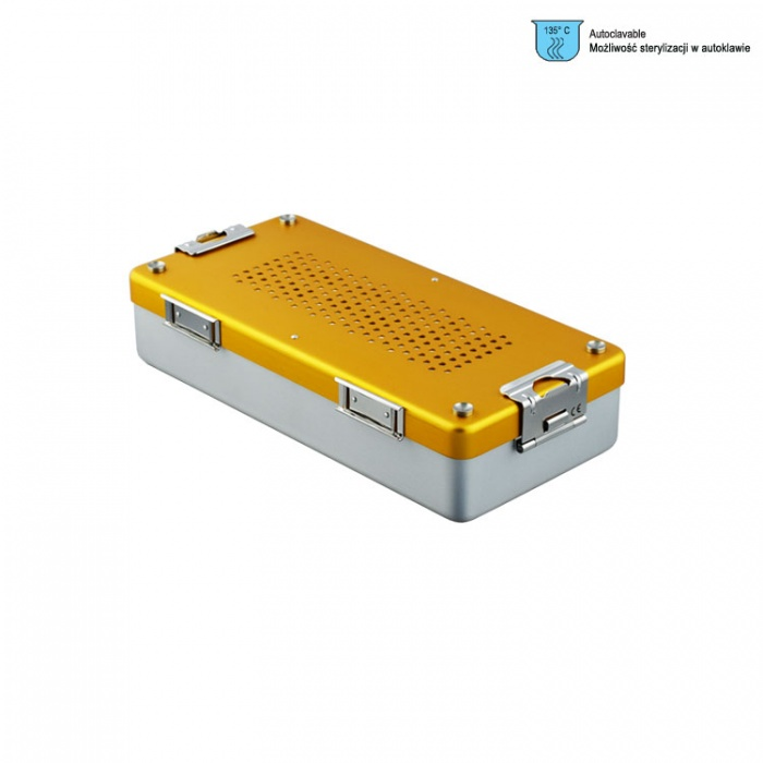 Container Mini Complete With Perforated Lid + Perforated Bottom, 285X135X60mm, Gold