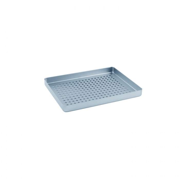 Instrument Tray Midi Aluminum Perforated 180X140mm Silver