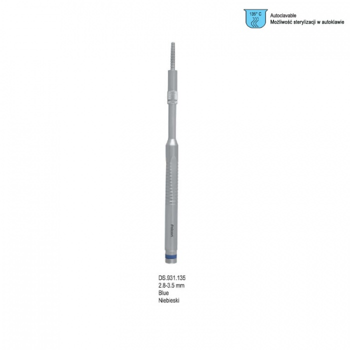 Ergo-Form Condensing Osteotome With Stop, Straight 2.8-3.5mm (Blue)