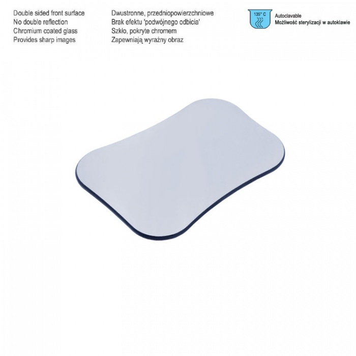 Photographic Mirror Double Sided Front Surface Palatal Adult, 70 X 62 X 100mm