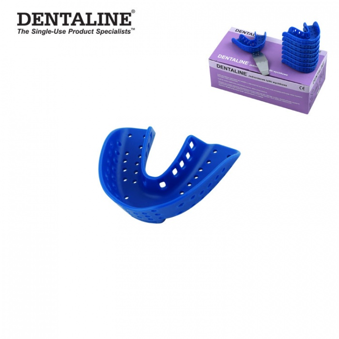 Dentaline Disposable Impression Trays Blue, Orthodontic Lower Size L Fig. 16 (25 Pieces)