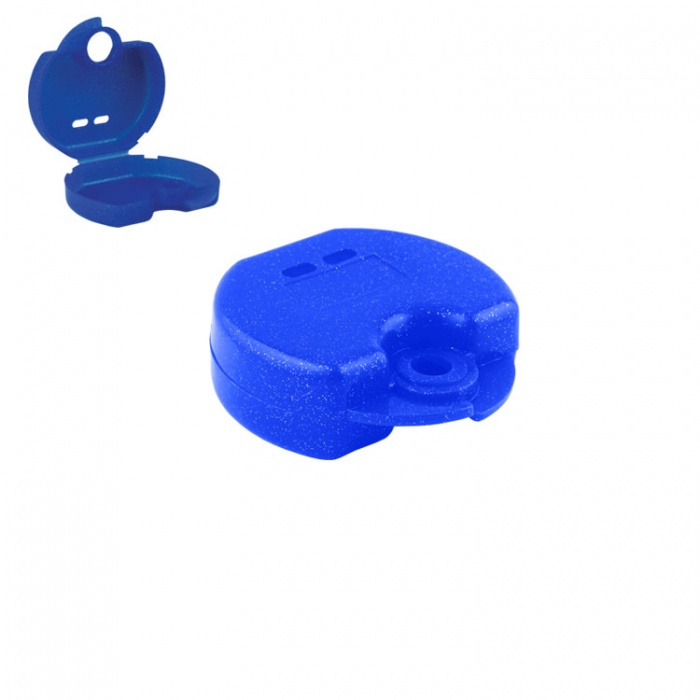 Retainer Cases Euro Mini Tropical Blue, 31 X 76 X 64mm (Pack Of 10 Pieces)