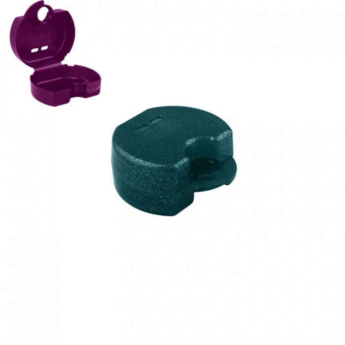 Retainer Cases Euro Maxi Sparkle Green, 38 X 76 X 64mm (Pack Of 10 Pieces)