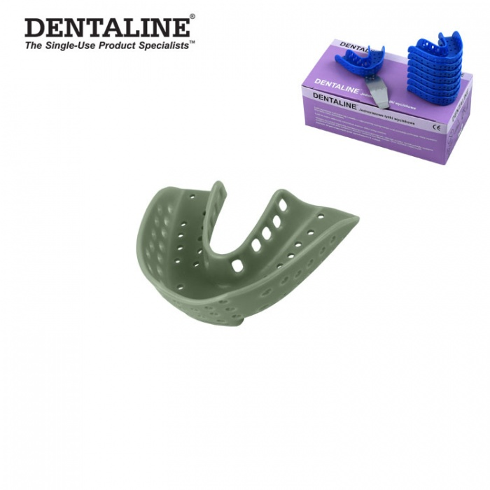 Dentaline Disposable Impression Trays Olive, Orthodontic Lower Size L Fig. 16 (25 Pieces)