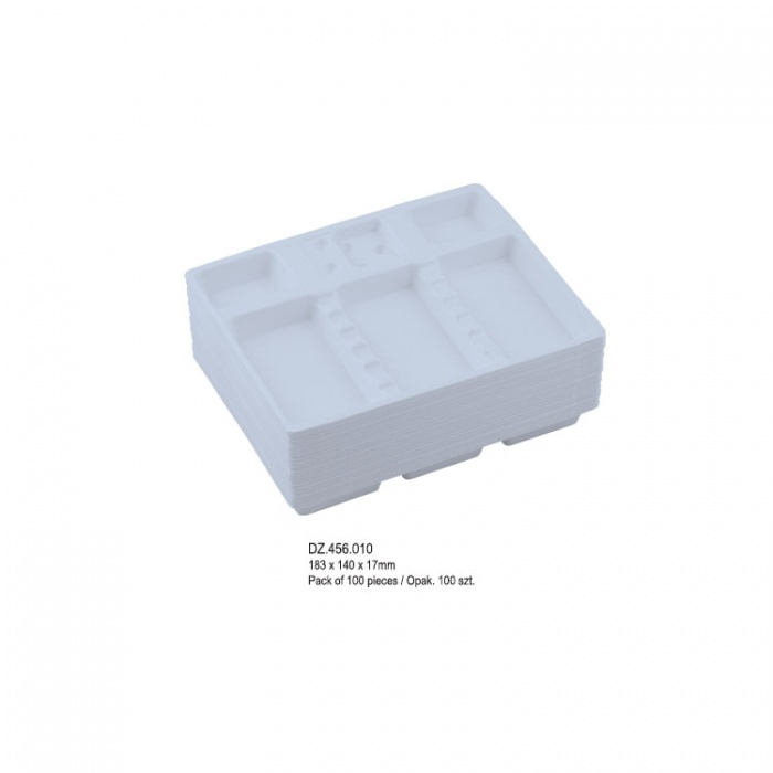Dentaline Disposable Instrument Trays Midi 183X140X17mm (Pack Of 100 Pieces)