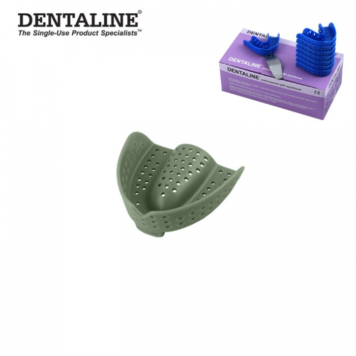 Dentaline Disposable Impression Trays Olive, Orthodontic Upper Size L Fig. 15 (25 Pieces)