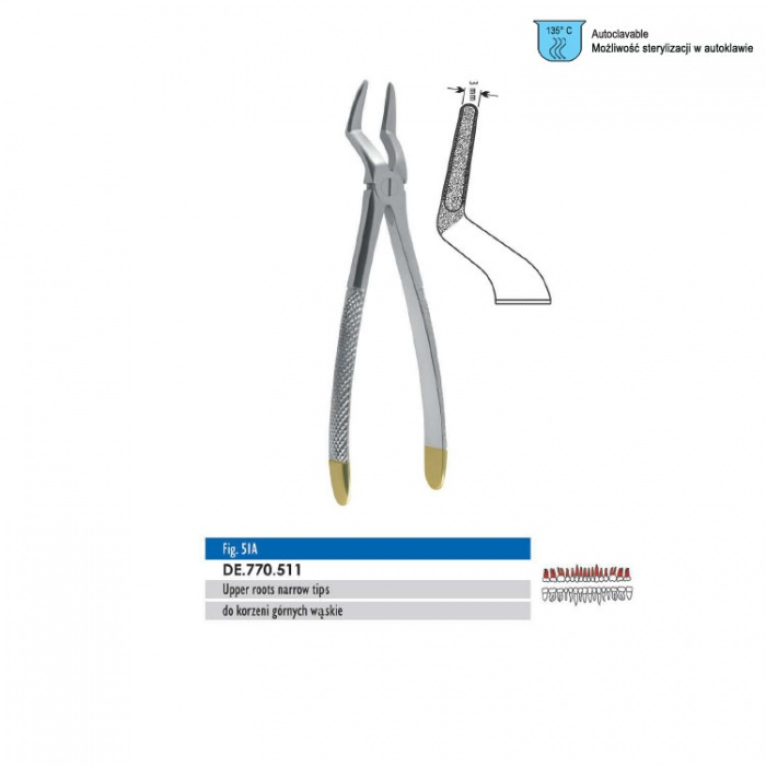 Diamond-Grip Extracting Forceps European Pattern Fig. 51A