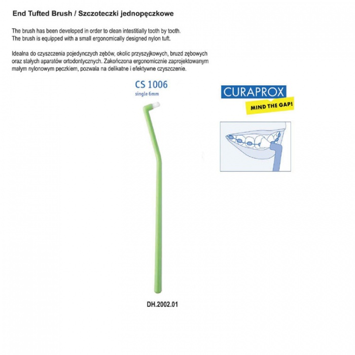 Curaprox Cs1006 Pointed Toothbrush 6mm