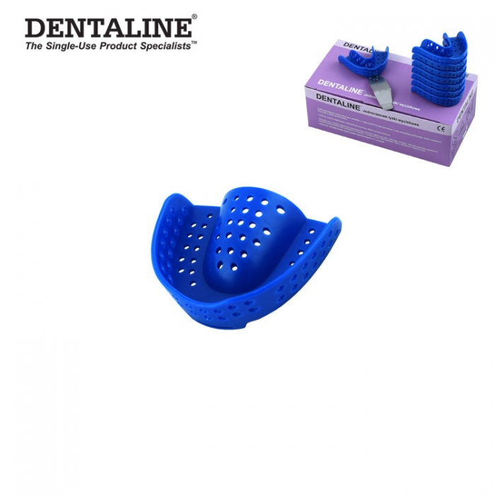 Dentaline Disposable Impression Trays Blue, Orthodontic Upper Size M Fig. 17 (25 Pieces)