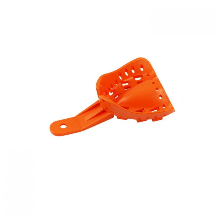 Disposable Orthodontic Impression Tray Upper Fig. A4 Size S (Orange) 10 Pieces