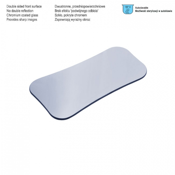 Photographic Mirror Double Sided Front Surface Palatal Adult Regular, 70 X 62 X 135mm
