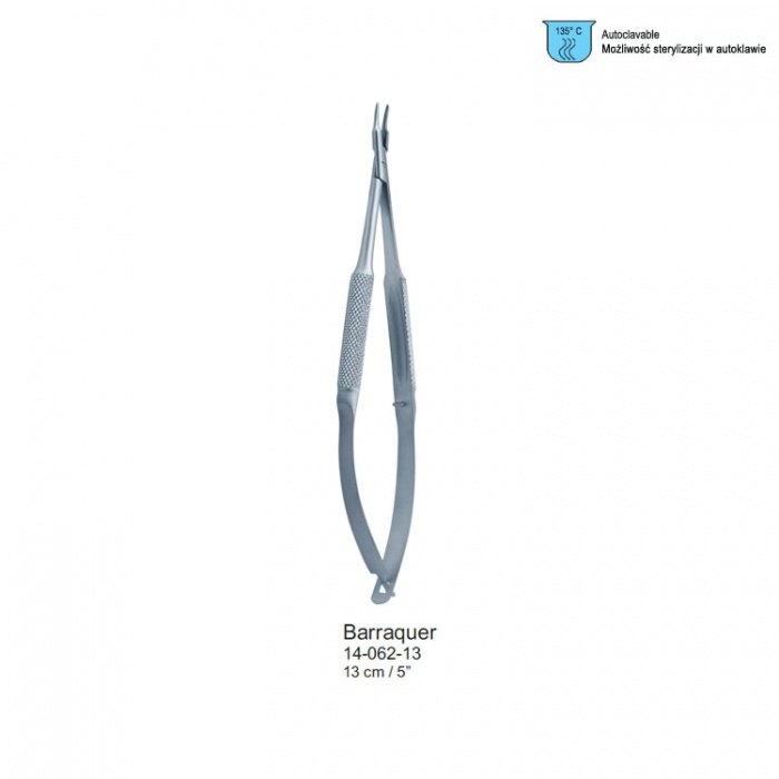 Barraquer Micro Needle Holder Curved 130mm
