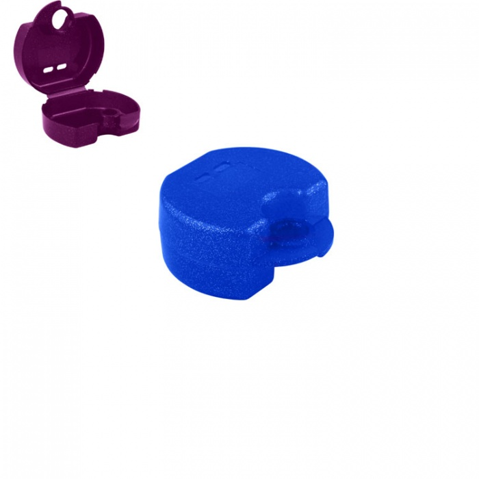 Retainer Cases Euro Maxi Tropical Blue, 38 X 76 X 64mm (Pack Of 10 Pieces)
