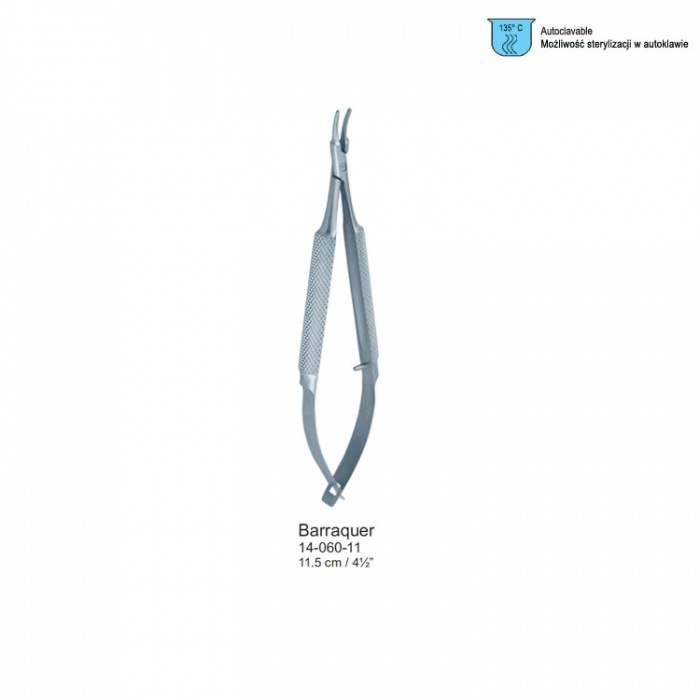 Barraquer Micro Needle Holder Curved 115mm