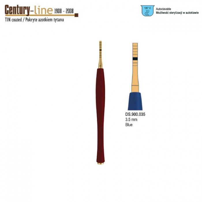 Century-Line Sinus Osteotome Concave Straight 3.5mm (Blue)