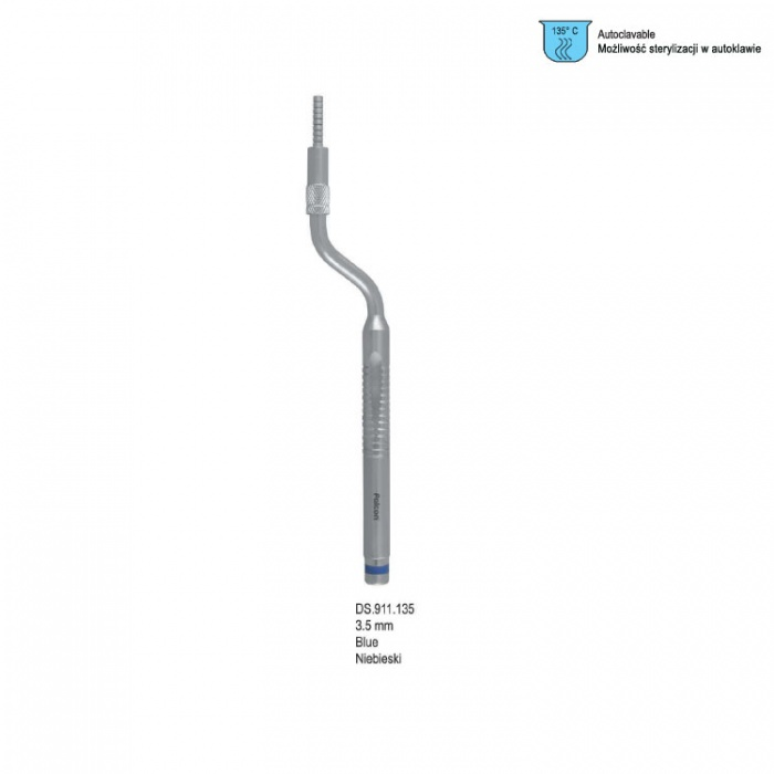 Ergo-Form Sinus Osteotome With Stop Concave Bayonet 3.5mm (Blue)