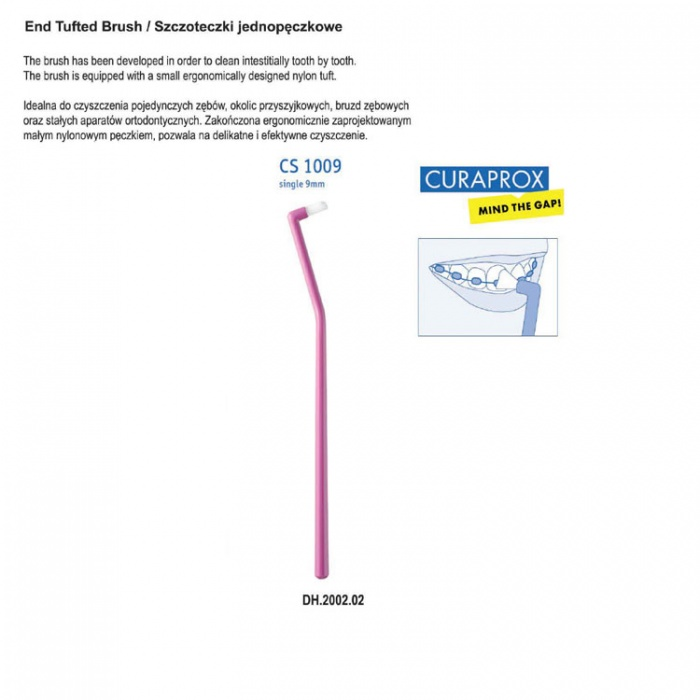 Curaprox Cs1009 Pointed Toothbrush 9mm