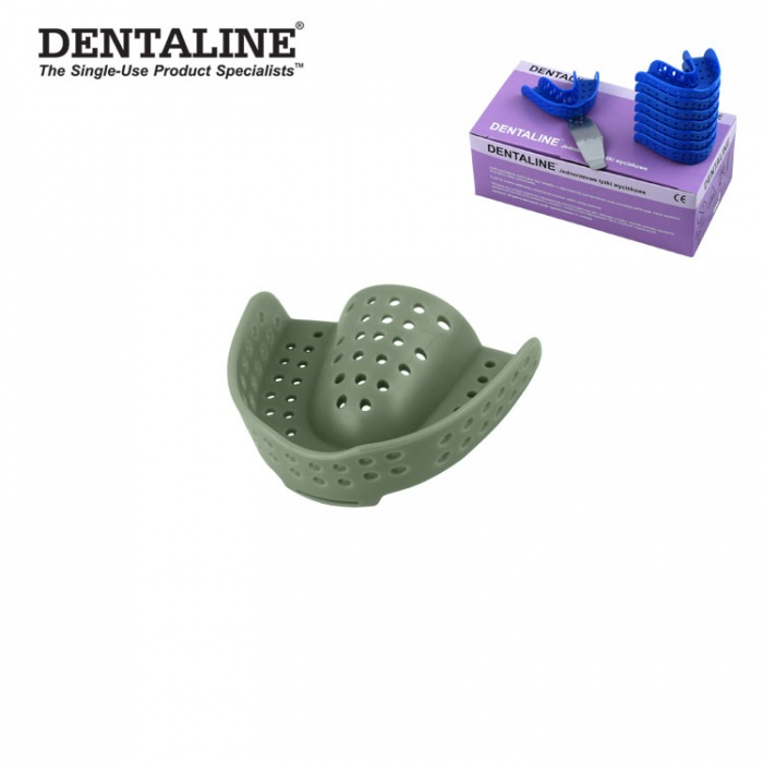 Dentaline Disposable Impression Trays Olive, Orthodontic Upper Size M Fig. 17 (25 Pieces)