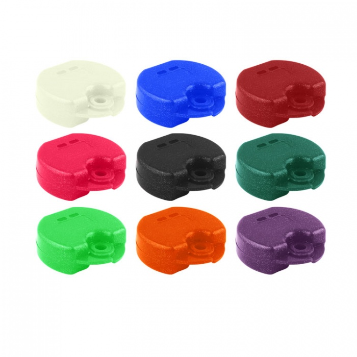 Retainer Cases Euro Mini Assorted Colours, 31 X 76 X 64mm (Pack Of 10 Pieces)