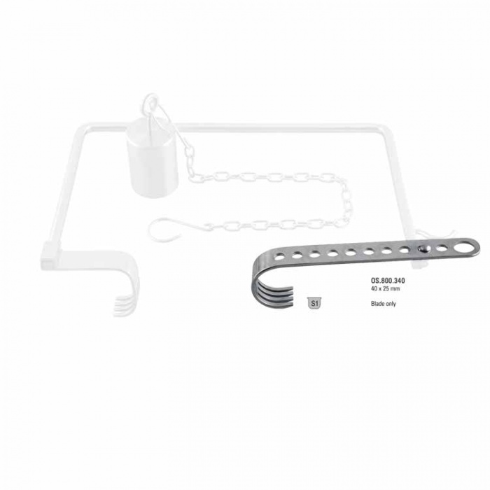 Retractor Hip Self-Retaining Charnley Initial Incision Long Blade 75mm