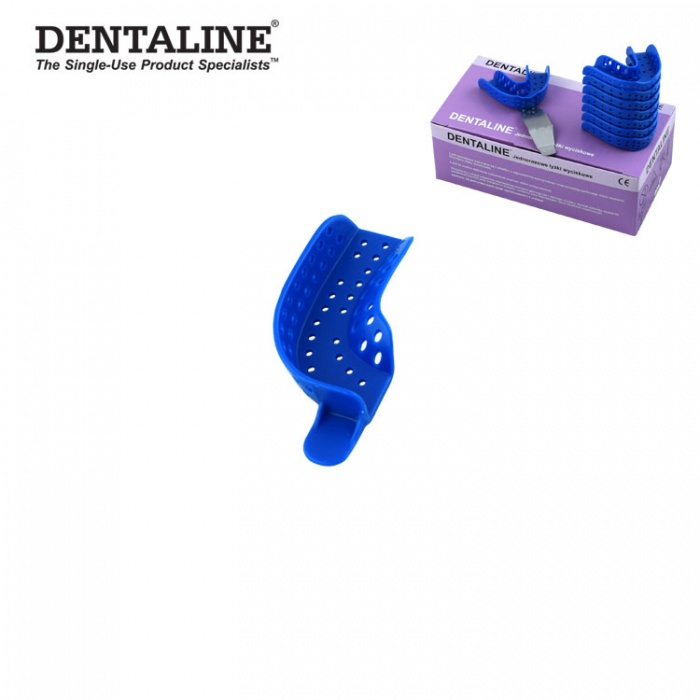 Dentaline Disposable Impression Trays Blue, Partial Upper Left / Lower Right Fig. 22 (25 Pieces)