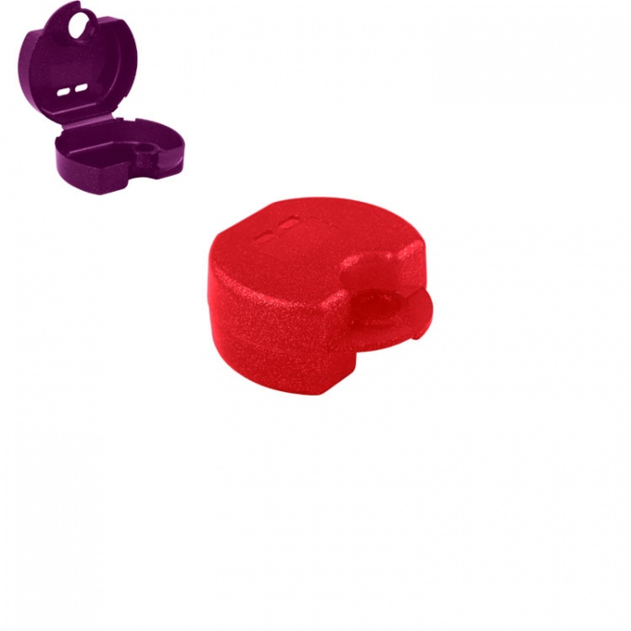 Retainer Cases Euro Maxi Sparkle Red, 38 X 76 X 64mm (Pack Of 10 Pieces)