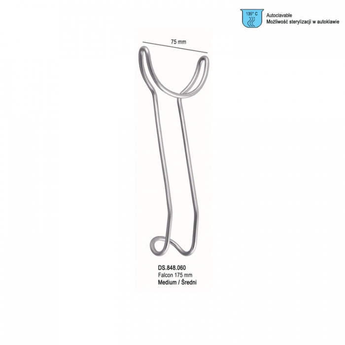 Retractor Universal Lip And Cheek Double Ended Medium 75mm X 175mm