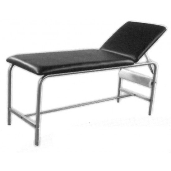 Examination Couch. L(187), W(61), H(77)cm. Chrome Plated